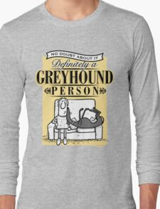 Greyhound Person Long Sleeve T-Shirt