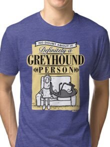 Greyhound Person Tri-blend T-Shirt