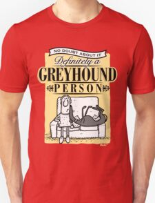 Greyhound Person Unisex T-Shirt