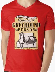 Greyhound Person Mens V-Neck T-Shirt