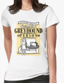 Greyhound Person Womens Fitted T-Shirt