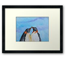 the2 stay together in the cold Framed Print