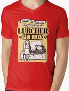 Lurcher Person Mens V-Neck T-Shirt