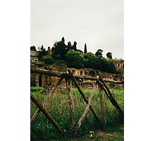Roman Wooden Fence Photographic Print