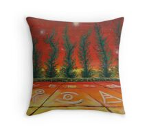 Oil Painting - The Wisdom of Cypress Trees. 2011 Throw Pillow