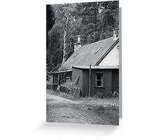 Tin house in the woods Greeting Card