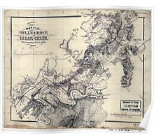 Civil War Maps 1634 Sketch of the battle of Belle Grove or Cedar Creek Wednesday Oct'r 19th 1864 Poster