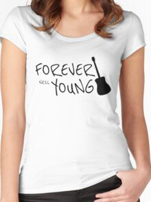 Forever Neil Young Rock Music Gift Women's Fitted Scoop T-Shirt