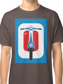 Beautiful Vespa scooter wheels french flag color  Classic T-Shirt