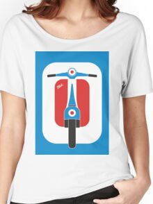 Beautiful Vespa scooter wheels french flag color  Women's Relaxed Fit T-Shirt
