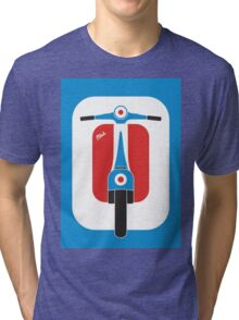 Beautiful Vespa scooter wheels french flag color  Tri-blend T-Shirt