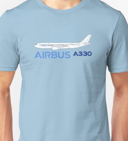 Airbus A330 Line Drawing Unisex T-Shirt