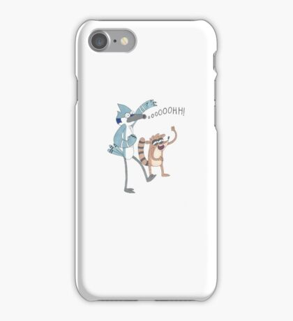Mordecai and Rigby illustration iPhone Case/Skin