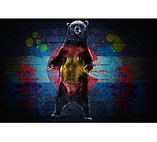 Graffiti Colorado flag bear Photographic Print