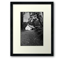 The cottage down the lane Framed Print