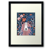 Bear Garden Framed Print