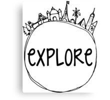 Explore Globe Canvas Print