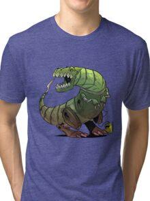 Robot T-rex Tri-blend T-Shirt