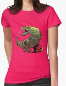 Robot T-rex Womens Fitted T-Shirt