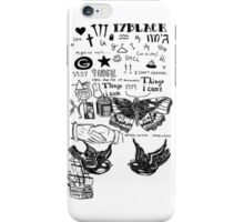 One Direction Harry styles tattoos  iPhone Case/Skin