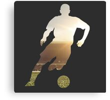 Soccer stadium silhouette Canvas Print