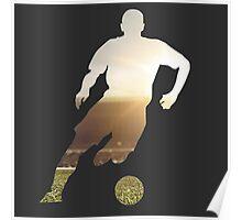 Soccer stadium silhouette Poster