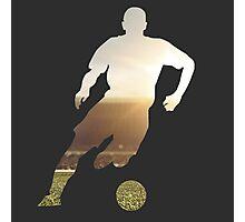 Soccer stadium silhouette Photographic Print