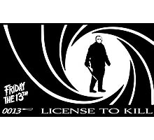 Jason Voorhees - License to Kill Photographic Print