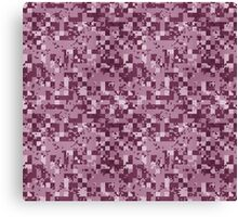 Cube Camo - Pink Canvas Print