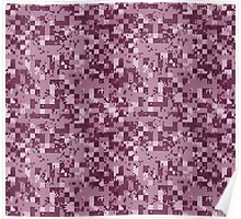 Cube Camo - Pink Poster