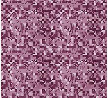 Cube Camo - Pink Photographic Print