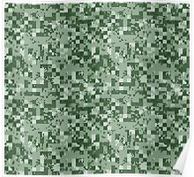 Cube Camo - Green Poster