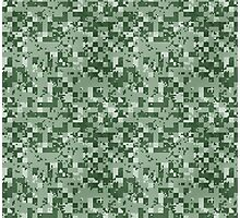 Cube Camo - Green Photographic Print