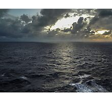 Sunset and Storm Squalls  Photographic Print