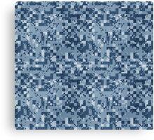 Cube Camo - Blue Canvas Print