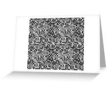 Cube Camo - Gray Greeting Card