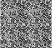 Cube Camo - Gray Photographic Print