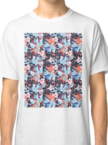 beautiful pattern of plants and birds lovers Classic T-Shirt