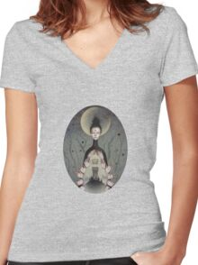 Divinity is Within Us  Women's Fitted V-Neck T-Shirt