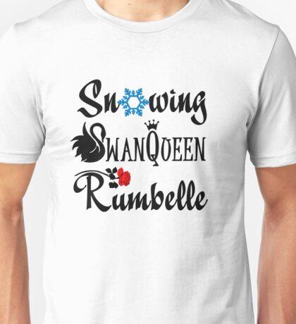 SwanQueen, Snowing, Rumbelle! Unisex T-Shirt