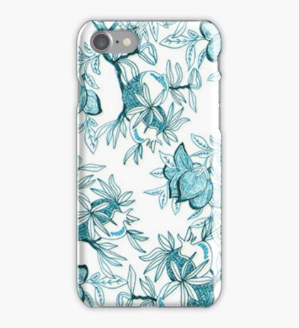 Classy Inked flowers iPhone Case/Skin