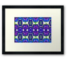 White stripe repeat pattern Framed Print