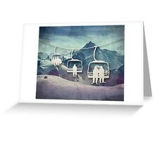 The Chair Lift Greeting Card