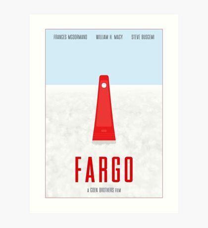 Fargo film poster Art Print