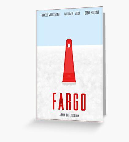 Fargo film poster Greeting Card