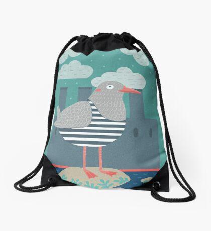 A seagull Drawstring Bag