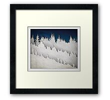 A Hike in the Snow Framed Print