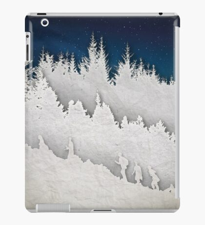 A Hike in the Snow iPad Case/Skin
