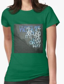 On My Way Womens Fitted T-Shirt