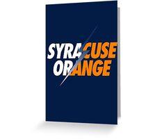 SYRACUSE ORANGE Greeting Card